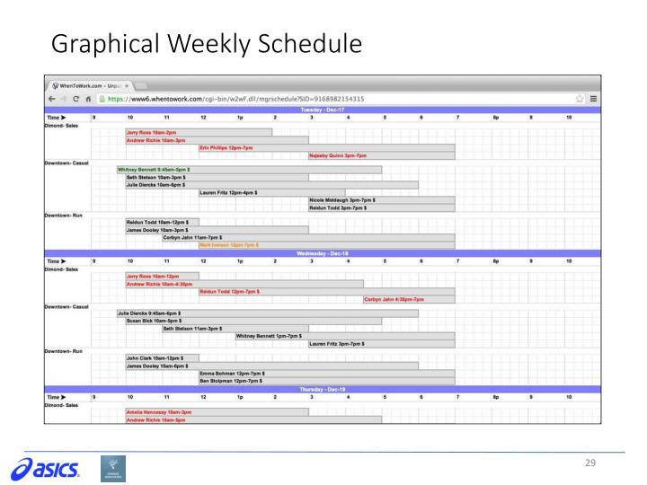 Graphical Weekly Schedule