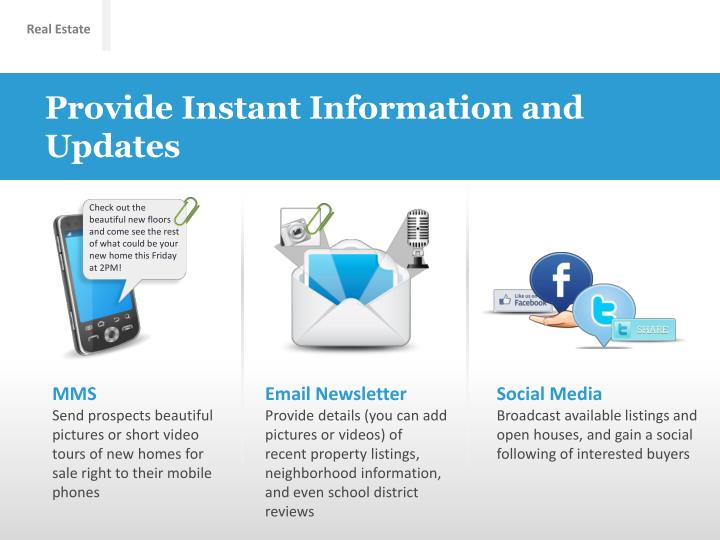 Provide Instant Information and Updates