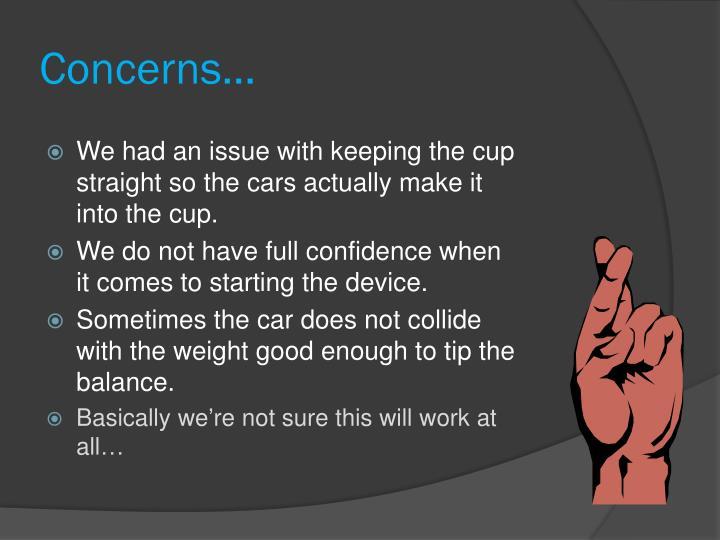Concerns…