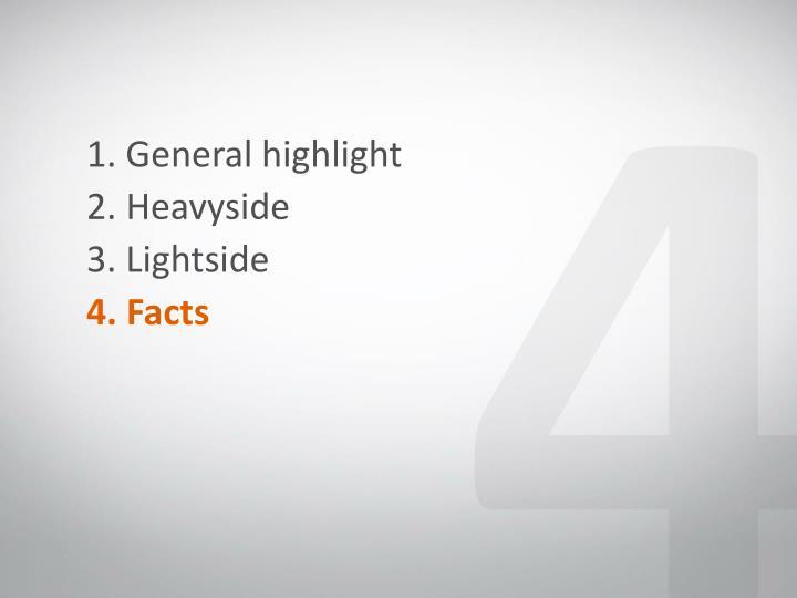 1. General highlight