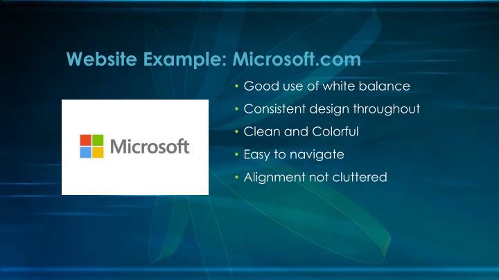 Website Example: Microsoft.com