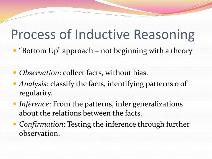 Process of Inductive Reasoning