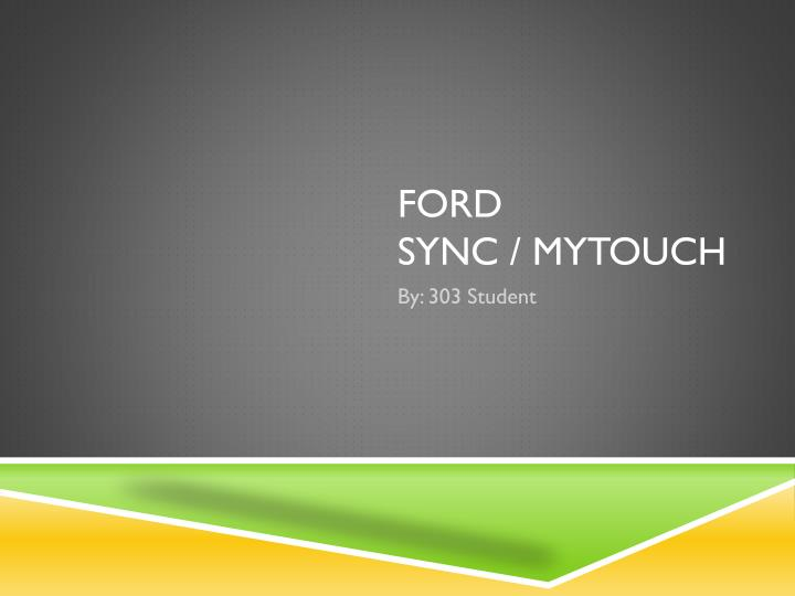 ford sync mytouch