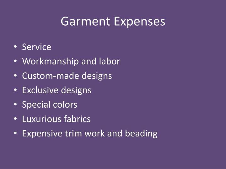 Garment Expenses