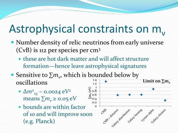 Astrophysical constraints on m
