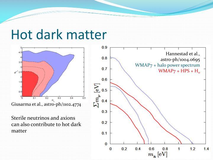 Hot dark matter