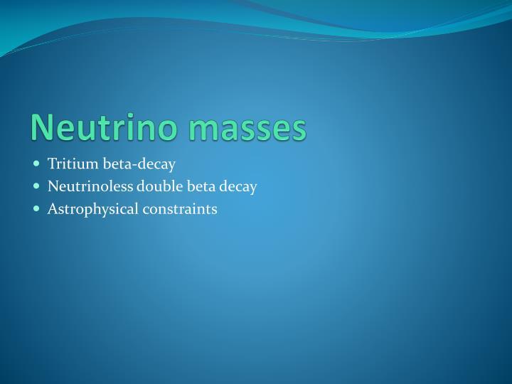 Neutrino masses
