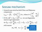 seesaw mechanism