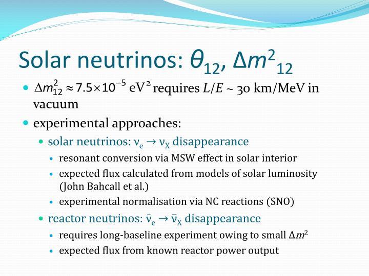 Solar neutrinos: