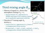 third mixing angle 13