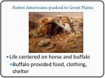 native americans pushed to great plains