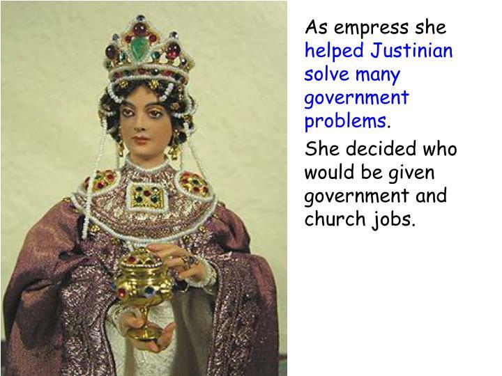 As empress she