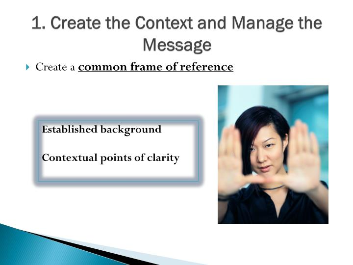 1. Create the Context and Manage the Message
