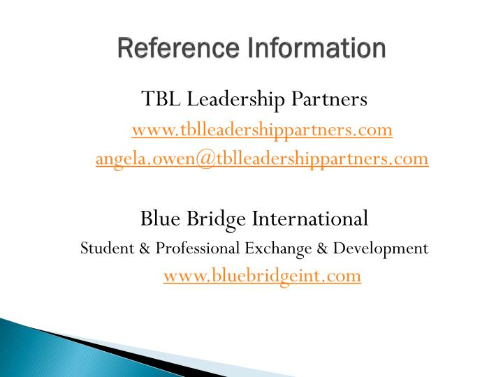 Reference Information