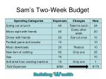 sam s two week budget1