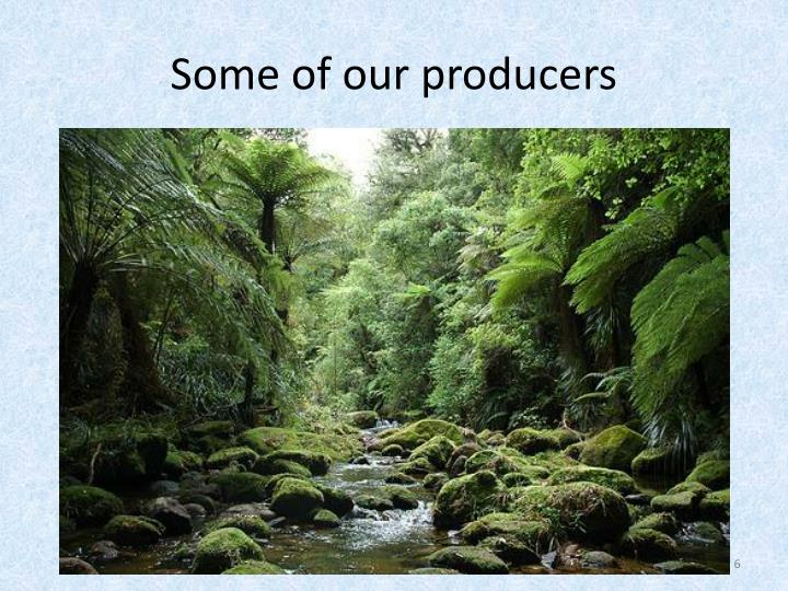 Some of our producers