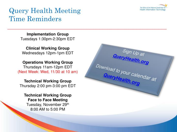 Query Health Meeting