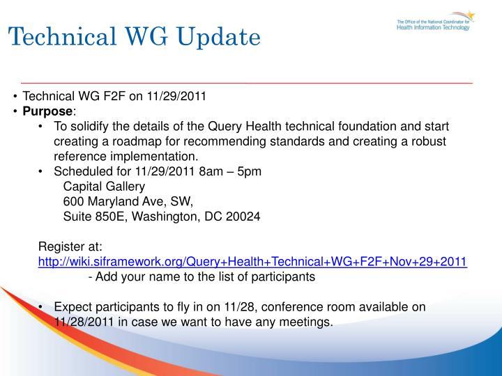 Technical WG Update