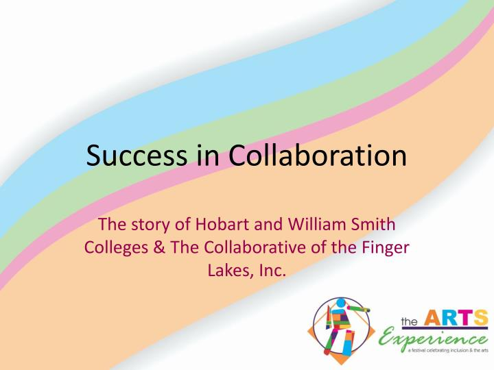 success in collaboration