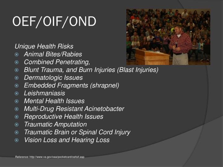 OEF/OIF/OND