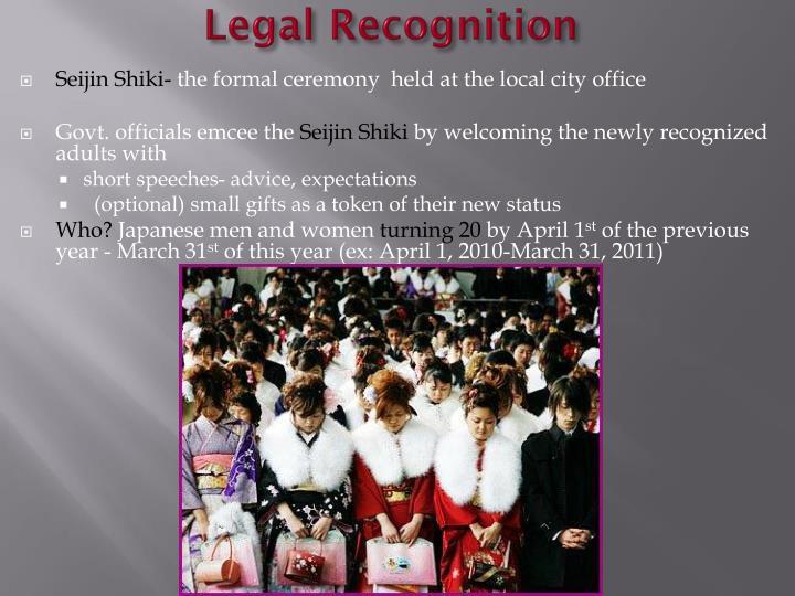 Legal Recognition