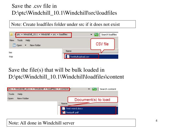 Save the .csv file in