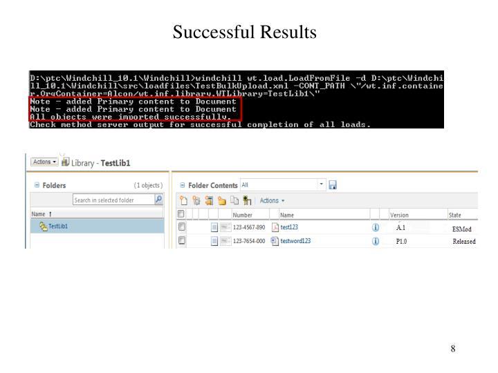 Successful Results
