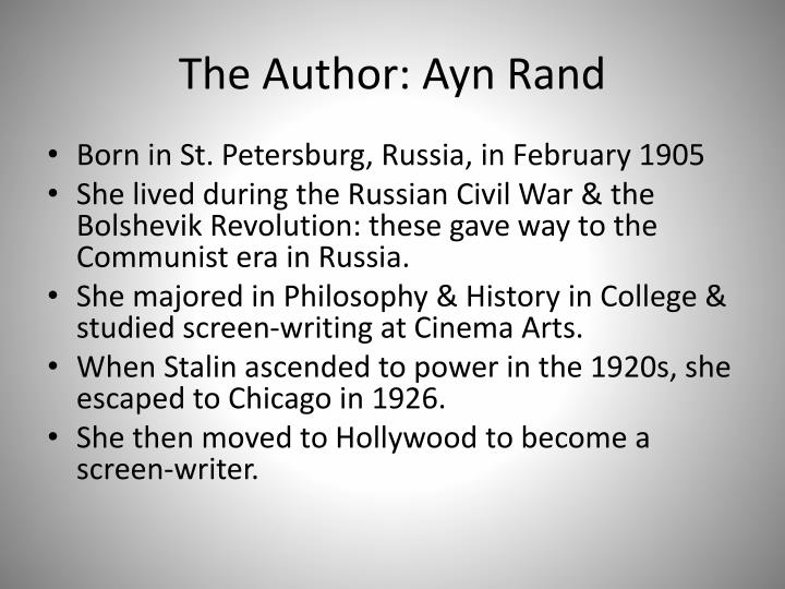 The author ayn rand