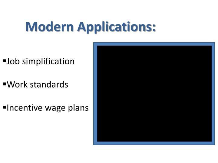 Modern Applications: