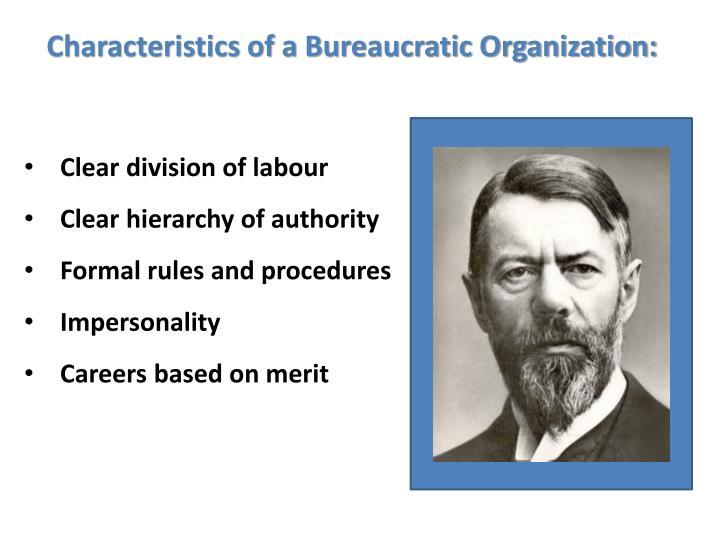 Characteristics of a Bureaucratic Organization: