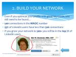2 build your network