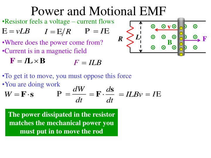 Power and Motional EMF