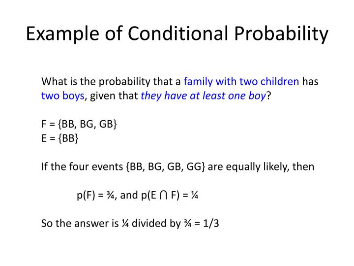 Example of Conditional Probability