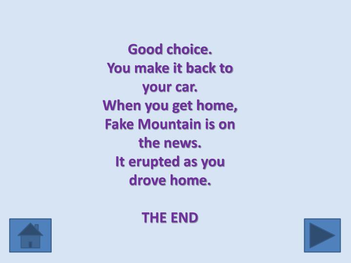 Good choice.