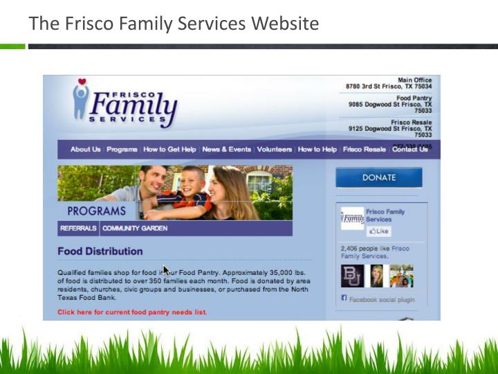 The Frisco Family Services Website