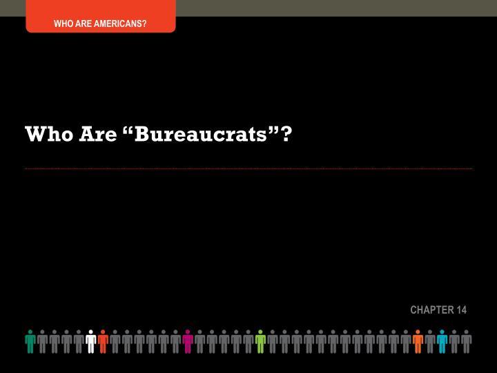 "Who Are ""Bureaucrats""?"