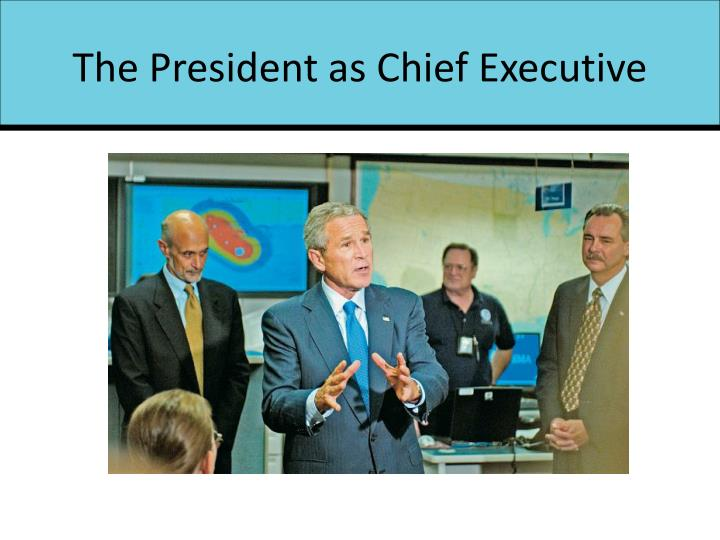 The President as Chief Executive