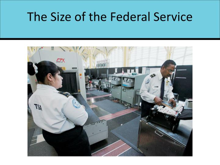 The Size of the Federal Service