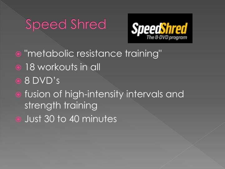 Speed Shred