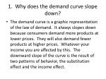 1 why does the demand curve slope down