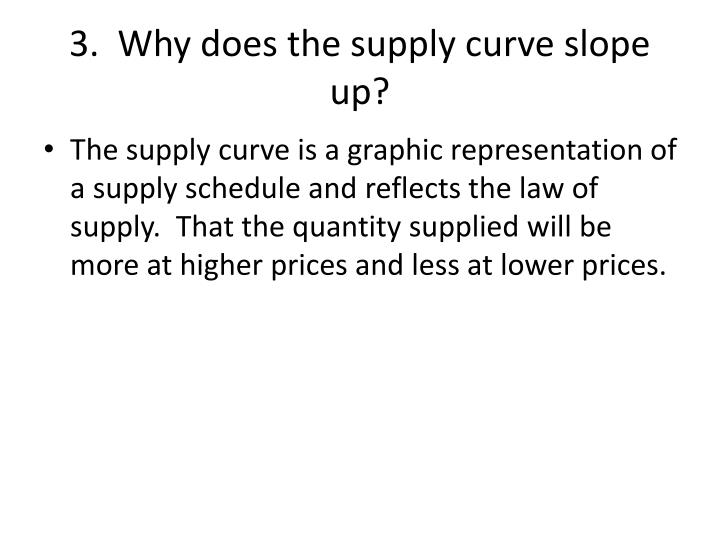 3.  Why does the supply curve slope up?