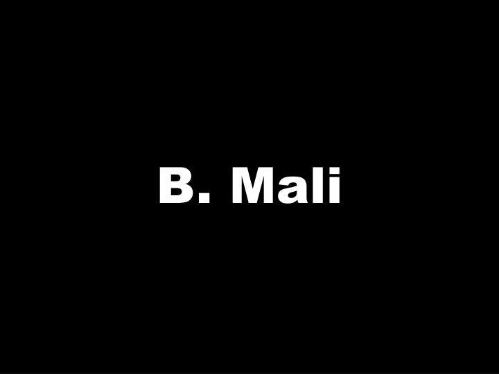 B. Mali