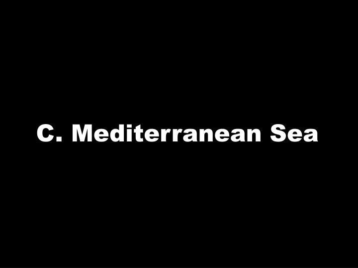 C. Mediterranean Sea