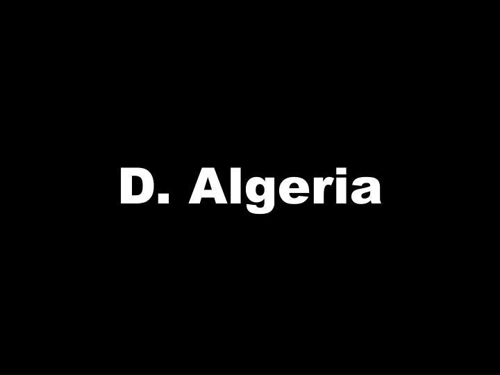 D. Algeria