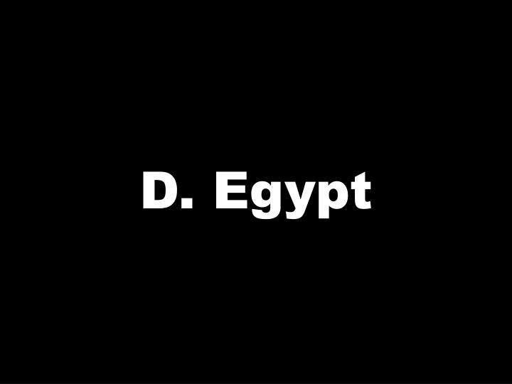 D. Egypt