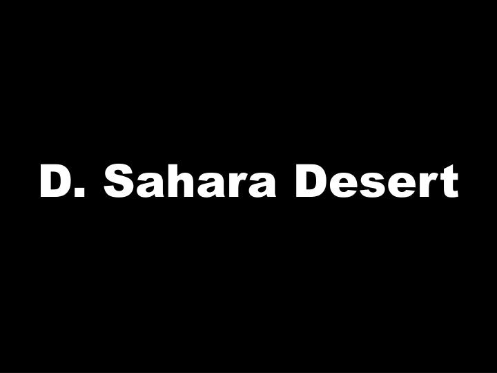 D. Sahara Desert