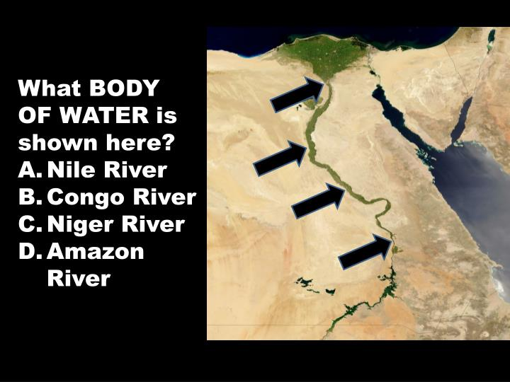 What BODY OF WATER is shown here?