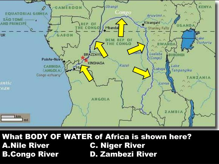 What BODY OF WATER of Africa is shown here?