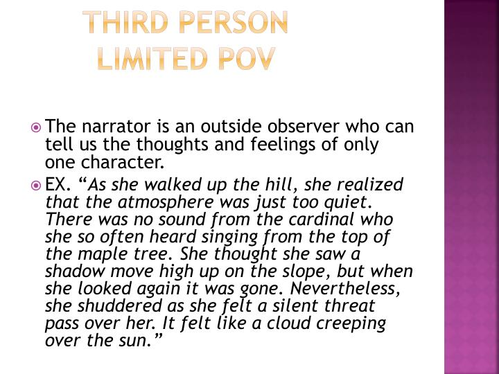 Third person Limited POV