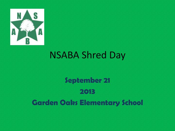 Nsaba shred day